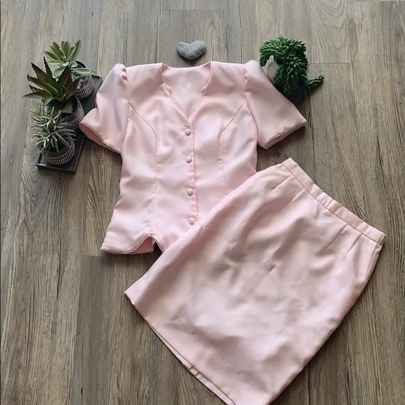 Vintage skirt and jacket set